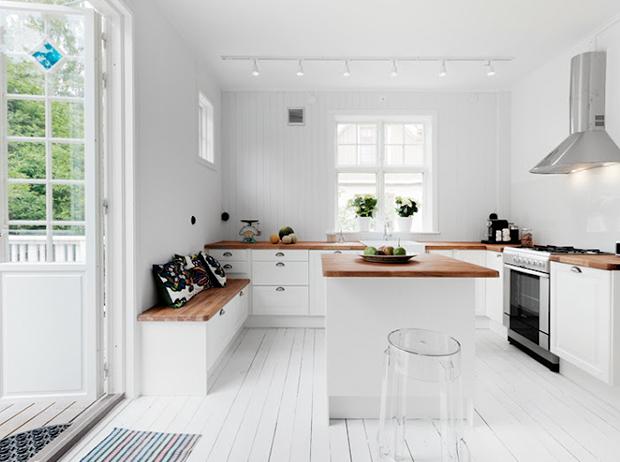 Estancias con estilo n rdico enmimetrocuadrado - Cocinas estilo nordico ...